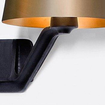 Brass shade, illuminated / Detail view