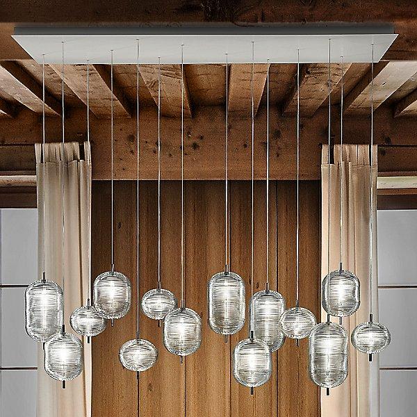 Jefferson LED Rectangular 14-Light Multi-Light Pendant Light