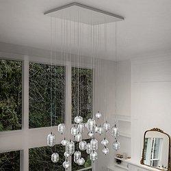 Jefferson LED Rectangular 28-Light Multi-Light Pendant Light
