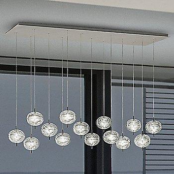 Crystal shade / Black Chrome finish, illuminated