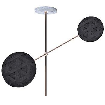 Copper fixture finish / Black Shade / Hexagonal Small Shade Fabric Pattern / Hexagonal Large Shade Fabric Pattern