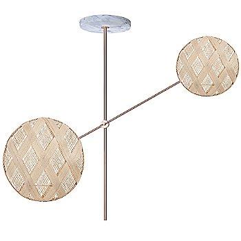 Copper fixture finish / Natural Shade / Diamond Small Shade Fabric Pattern / Diamond Large Shade Fabric Pattern
