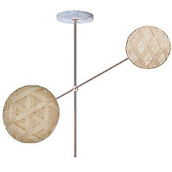 Copper fixture finish / Natural Shade / Diamond Small Shade Fabric Pattern / Hexagonal Large Shade Fabric Pattern