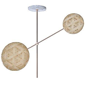 Copper fixture finish / Natural Shade / Hexagonal Small Shade Fabric Pattern / Hexagonal Large Shade Fabric Pattern