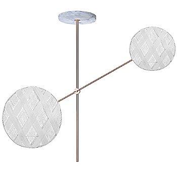 Copper fixture finish / White Shade / Diamond Small Shade Fabric Pattern / Diamond Large Shade Fabric Pattern