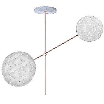 Copper fixture finish / White Shade / Diamond Small Shade Fabric Pattern / Hexagonal Large Shade Fabric Pattern