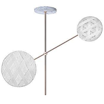 Copper fixture finish / White Shade / Hexagonal Small Shade Fabric Pattern / Diamond Large Shade Fabric Pattern
