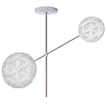 Copper fixture finish / White Shade / Hexagonal Small Shade Fabric Pattern / Hexagonal Large Shade Fabric Pattern