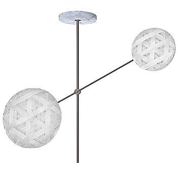 Gun Metal fixture finish / White Shade / Hexagonal Small Shade Fabric Pattern / Hexagonal Large Shade Fabric Pattern