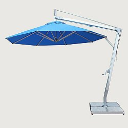 Santa Ana Round Side Wind Aluminum Cantilever Umbrella With Base