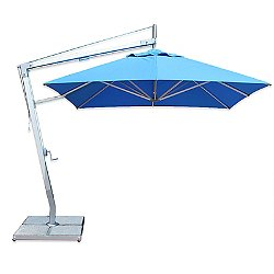 Santa Ana Square Side Wind Aluminum Cantilever Umbrella With Base