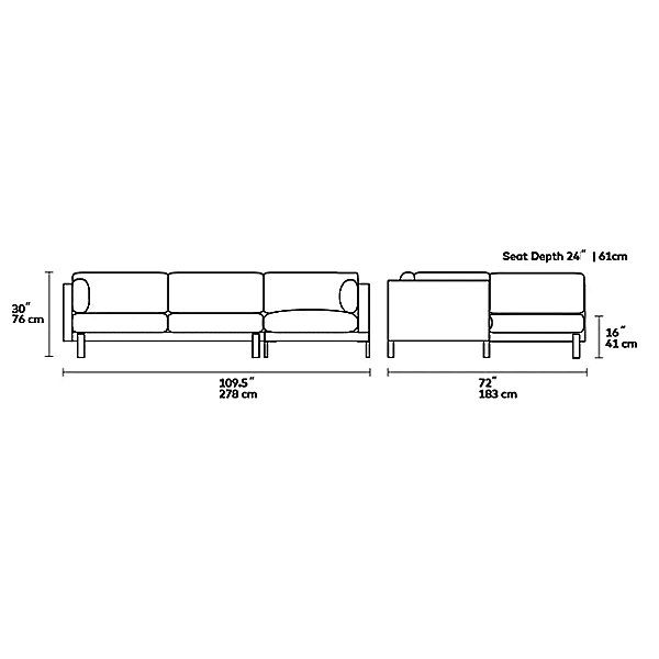 Silverlake Sectional - Left-Facing