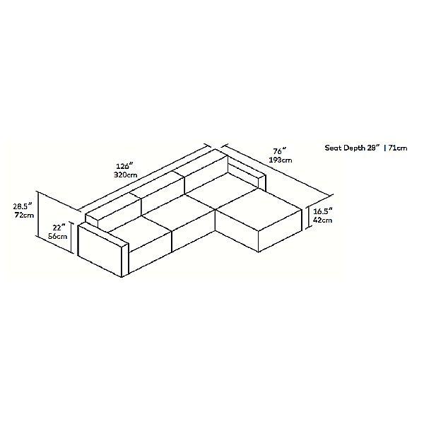 Mix Modular 4 Piece Sectional - Vegan Appleskin