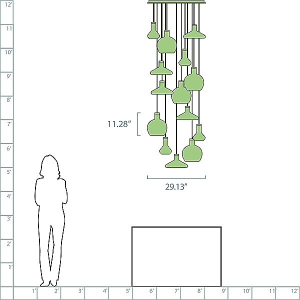Flask 14-Light Pendant Light
