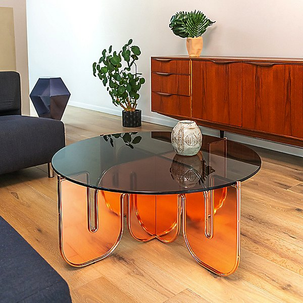 Wave Table with Glass Top