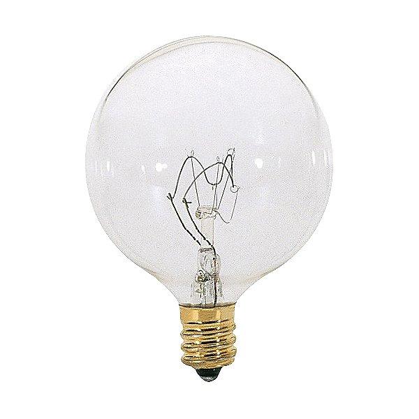 40W 120V G16 1/2 E12 Clear Bulb 6-Pack