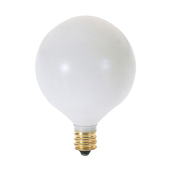 25W 120V G16 1/2 E12 White Bulb 6-Pack