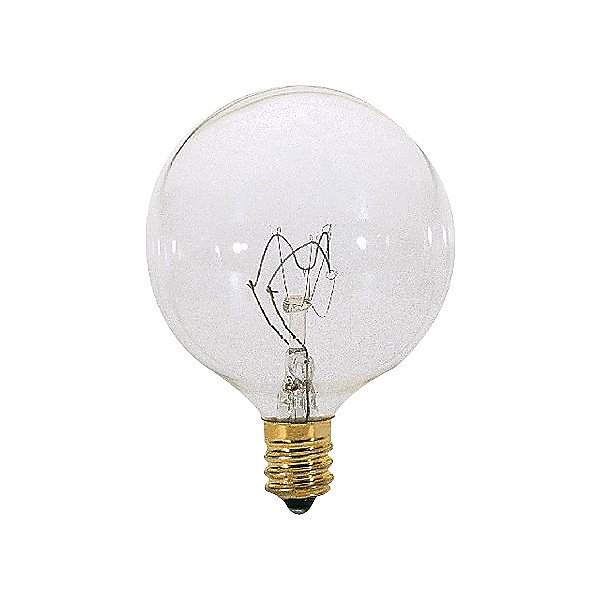 60W 120V G16 1/2 E12 Clear Bulb 6-Pack