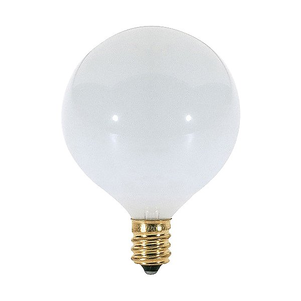 40W 120V G16 1/2 E12 White Bulb 6-Pack