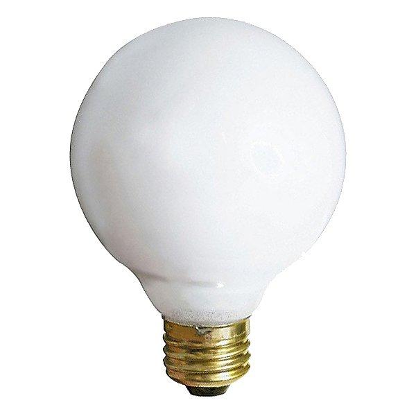 40W 120V G25 E26 Gloss White Bulb 3-Pack