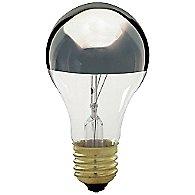 100W 120V A21 E26 Silver Crown Bulb (3-Pack)
