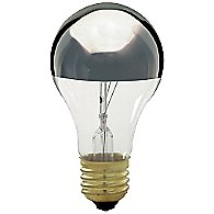60W 120V A19 E26 Silver Crown Bulb 3-Pack