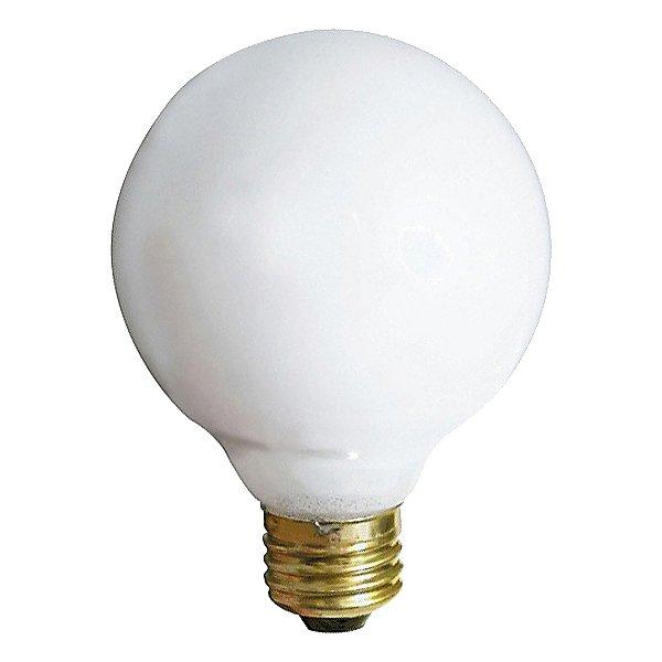 25W 120V G30 E26 Gloss White Bulb 3-Pack