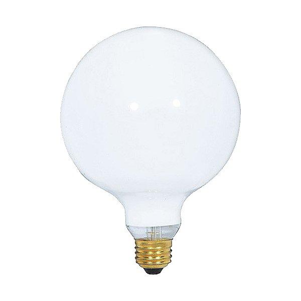 100W 120V G40 E26 White Bulb 2-Pack