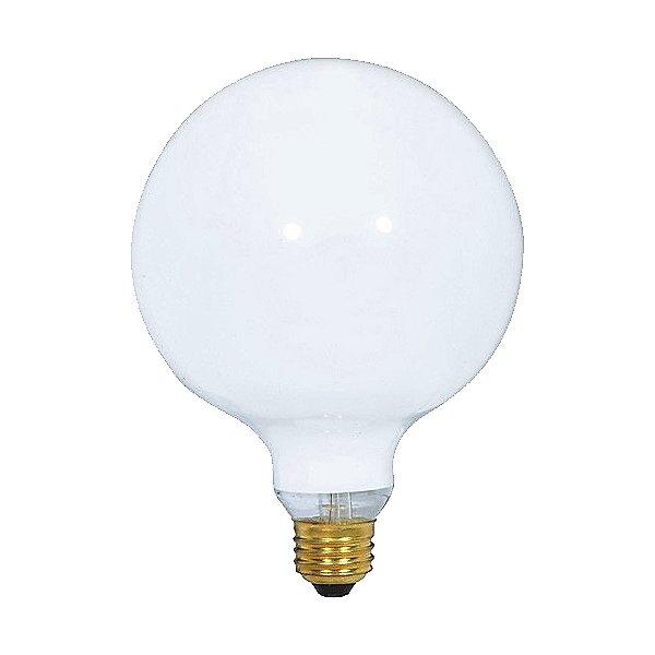 40W 120V G40 E26 Gloss White Bulb 2-Pack