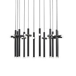 Seesaw LED Cross Circular Multi-Light Pendant Light