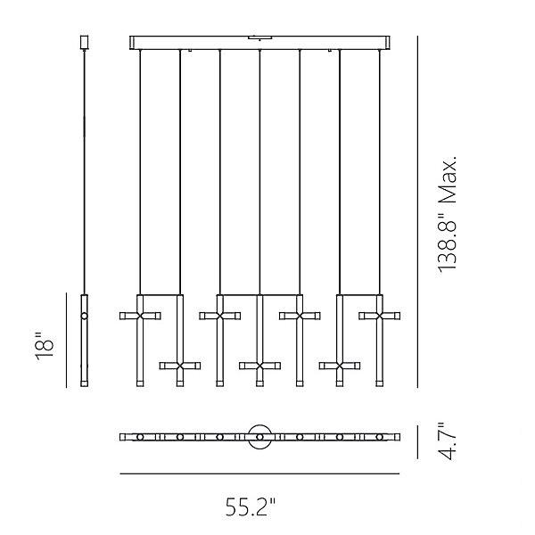 Seesaw LED Linear Suspension Light