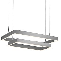 Prometheus LED Double Rectangular Pendant Light