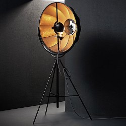 Fortuny Rubelli Floor Lamp (Black with Bronze/LED)-OPEN BOX