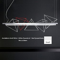 Rock Garden Linear Suspension (3Wht & 1Red Pyramid)-OPEN BOX