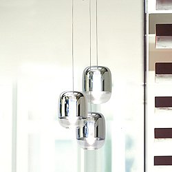 Gong Mini 3 Pendant Chandelier (3R/Silver) - OPEN BOX RETURN