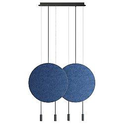 Revolta L73.2D Linear Suspension Light with Acoustic Panel