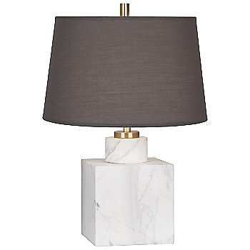 Carrara Marble with Smoke Gray Fabric shade