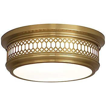 Shown in Antique Brass finish, Small size