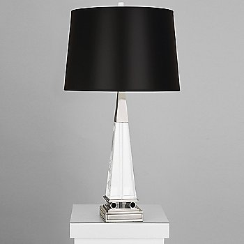 Black Opaque Parchment shade with Polished Nickel finish / Large size