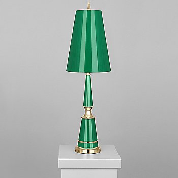 Emerald with Emerald Parchment Shade / Modern Brass finish