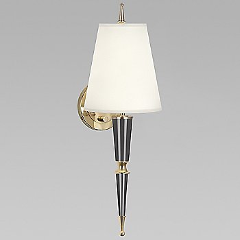 Ash with Fondine Fabric shade with Modern Brass finish