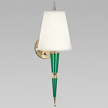 Cobalt with Cobalt Parchment shade with Modern Brass finish