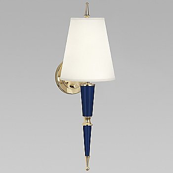 Cobalt with Fondine Fabric shade with Modern Brass finish