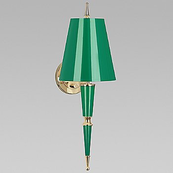 Emerald with Emerald Parchment shade with Modern Brass finish