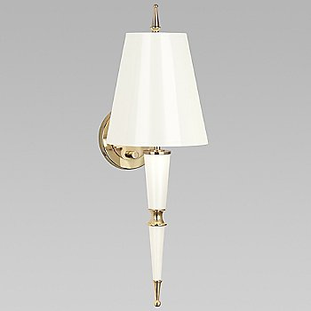 Lily with Lily Parchment shade with Modern Brass finish