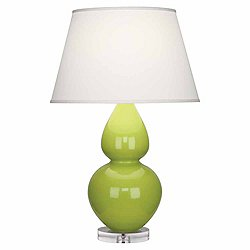Double Gourd Table Lamp(Lucite/Apple/Pearl Dupioni)-OPEN BOX