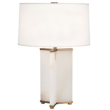 White Fabric shade / Aged Brass finish