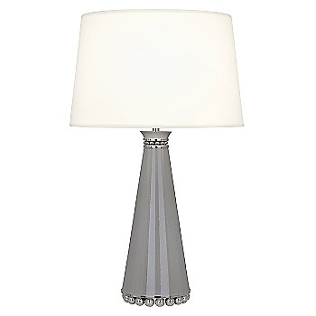 Fondine Fabric shade / Smoky Taupe finish / Polished Nickel Base finish