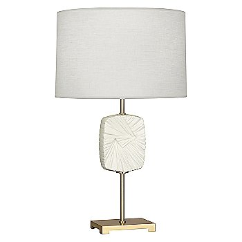 Modern Brass Finish with Flat Lily Accent / 26.75 Inch