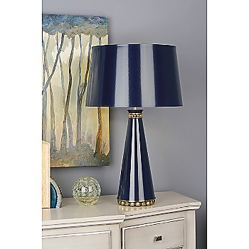 Midnight Blue Lacquered Shade Color / Midnight Blue Lacquered Finish / Modern Brass Accents Finish 2 /19.625 Size